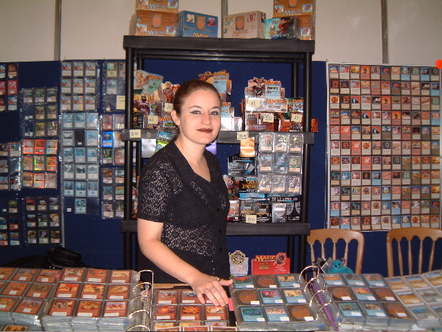 Our stall at GenCon UK 2002